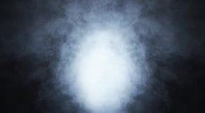 Fond bleu profond de fumée sur le noir Image stock