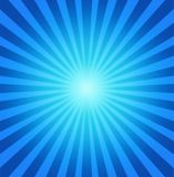 Fond bleu radial Photos stock