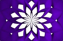 Fond bleu rond unique de fleur Photos stock