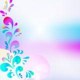 Fond bleu rose abstrait de baisse Illustration Stock