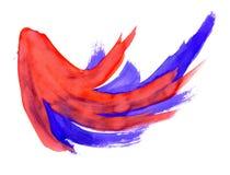 Fond bleu rouge Photos libres de droits