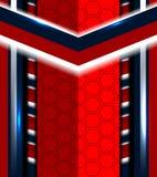 Fond bleu rouge de calibre abstrait de polygone Image libre de droits