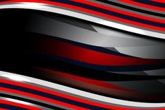Fond bleu rouge de vague abstraite Images libres de droits