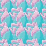 Fond bleu sans couture avec des tulipes Images libres de droits