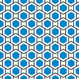 Fond bleu sans couture de grille de ruche d'hexagones illustration stock