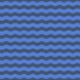 Fond bleu sans couture de modèle de vague Vecteur illustration libre de droits