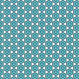 Fond bleu sans couture de modèle de diamant Images stock