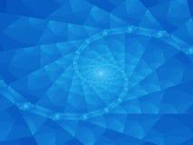 Fond bleu spiralé abstrait Photographie stock libre de droits