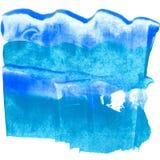Fond bleu texturisé de mer de brosse acrylique illustration libre de droits
