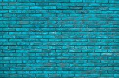 Fond bleu vibrant de mur de briques, papier peint Briques bleues modèle, texture Fond bleu vibrant de mur de briques, papier pein photographie stock