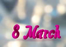 Fond boke 8 mars abstrait Photos stock