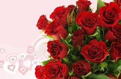 Fond - bouquet rose de Valentine image stock