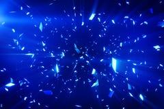 Fond brillant bleu de confettis Image stock