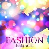 Fond brillant de bokeh de tache floue de mode pour la beauté Photographie stock libre de droits