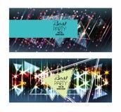 Fond brillant de disco de Brigth Invitation de partie Image stock
