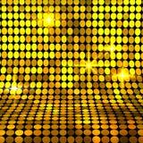 Fond brillant de mosaïque d'or Image libre de droits