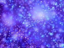 Fond brillant de neige bleue Photo libre de droits