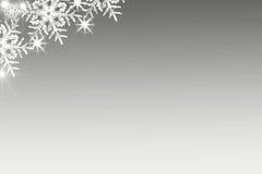 Fond brillant de Noël avec des flocons de neige et endroit pour le texte Fond bleu de vacances Images stock