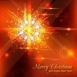 Fond brillant de Noël avec le cristal Image stock