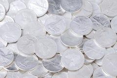 Fond brillant de pièces de monnaie Images libres de droits