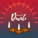 Fond brillant de salutation de festival de diwali Images libres de droits