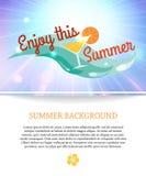 Fond brillant de vacances de paradis d'été avec Photographie stock