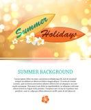 Fond brillant de vacances de paradis d'été avec Image stock
