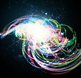 Fond brillant fonc? abstrait Images stock