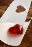 Fond brillant rouge de coeur de valentines Photographie stock libre de droits