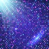 Fond brillant violet de vecteur léger de disco Photographie stock libre de droits