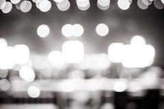 Fond brouillé : Éclairage de Bokeh de concert avec l'assistance, MU photos libres de droits