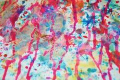 Fond brouillé dans des couleurs oranges bleues en pastel, roses, violettes Photographie stock