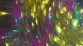 Fond brouillé de fête vibrant abstrait de bokeh Taches lumineuses colorées banque de vidéos