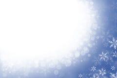 Fond brouillé de l'hiver avec des flocons de neige Images libres de droits