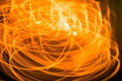 Fond brouillé de moment de lumière orange, texture du feu Photographie stock