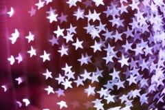 Fond brouillé en forme d'étoile de bokeh photographie stock libre de droits