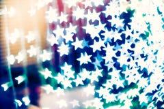 Fond brouillé en forme d'étoile de bokeh photo stock
