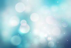 Fond brouillé par bleu neigeux d'hiver Images stock