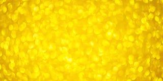 Fond brouillé par bokeh rond d'or avec les lumières lumineuses de scintillement d'or pour la Saint-Valentin ou les femmes jour, l images stock