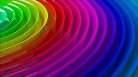 Fond brouillé par colorfull d'arc-en-ciel banque de vidéos