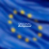 Fond brouillé par drapeau d'Union européenne Photographie stock libre de droits