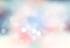 Fond brouillé par lumière Bokeh abstrait d'hiver Photographie stock libre de droits