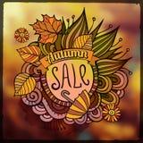 Fond brouillé par vente décorative d'automne de vecteur Photos stock