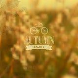 Fond brouillé par vintage d'automne illustration de vecteur