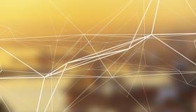 Fond brouillé scientifique abstrait avec la structure de grille photo stock