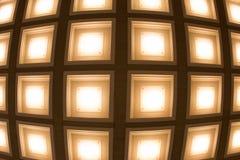Fond brouillé sous forme de tubes carrés de lampes Images libres de droits