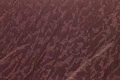 Fond brun chocolat de texture de rideau en abat-jour de tissu Photographie stock