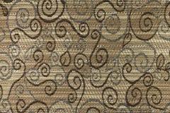 Fond brun clair avec les modèles géométriques Photos libres de droits