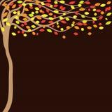 Fond brun d'automne avec des arbres illustration de vecteur