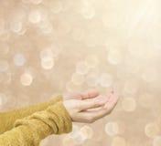 Fond brun de bokeh brouillé par résumé de tache lumineuse Image stock